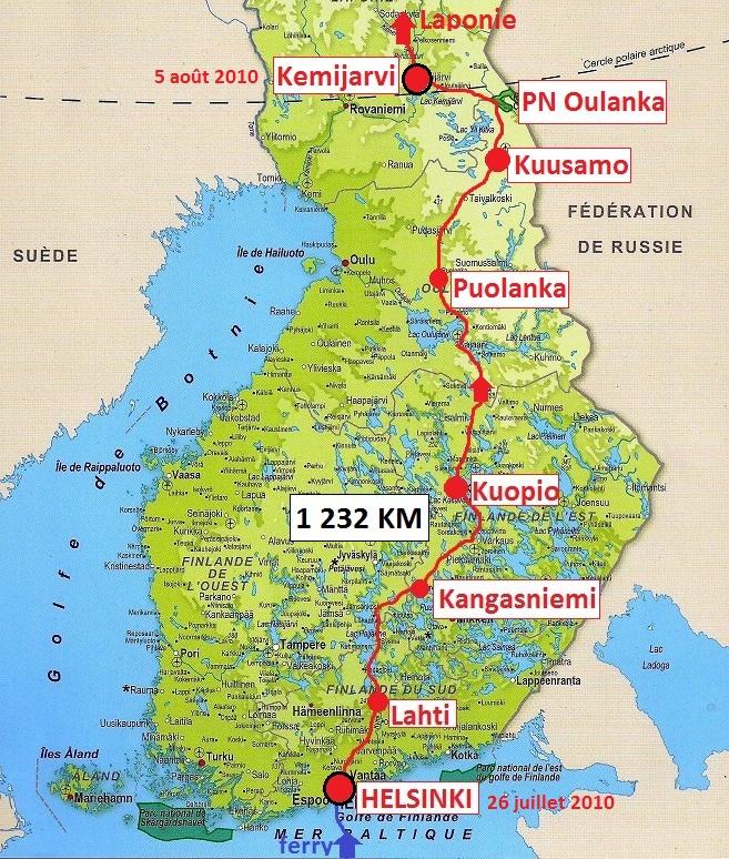carte Finlande 2010