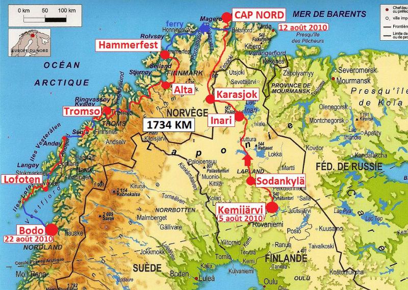 carte Laponie 2010
