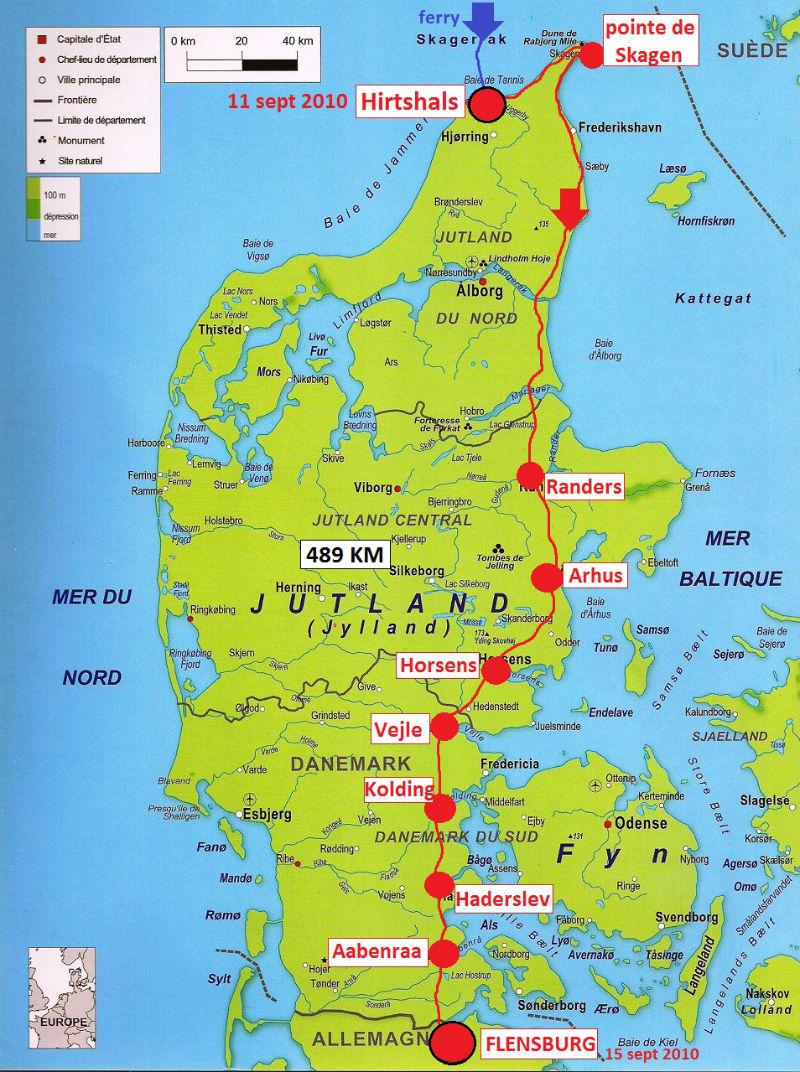 carte Danemark 2010