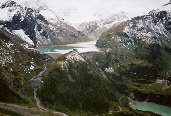 Autriche ; vélo ; barrage de Mooserboden