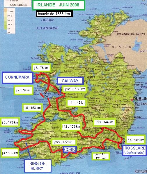 carte ; Irlande