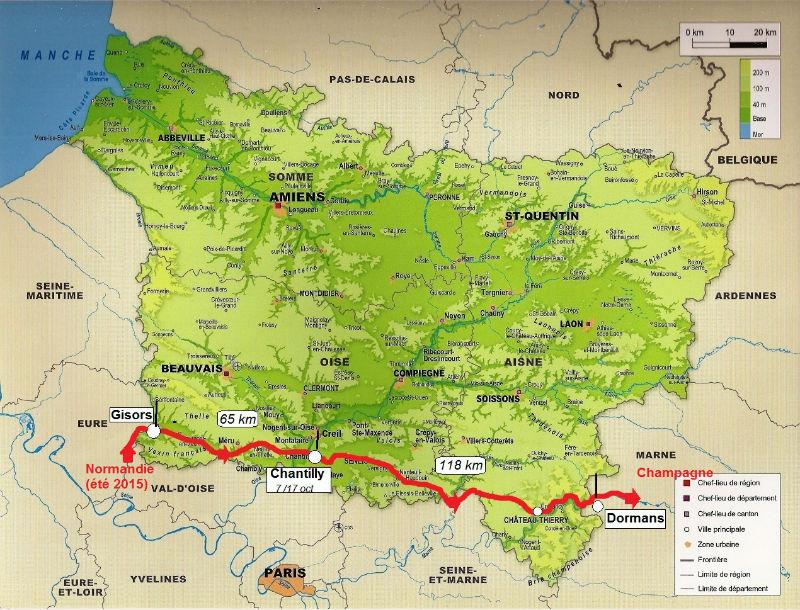 carte Picardie