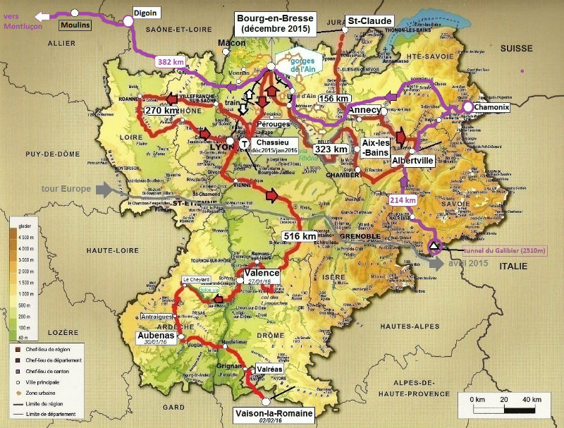 carte Rhone-Alpes